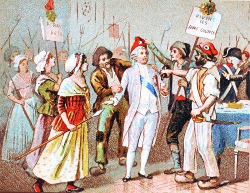 En acceptant de porter le bonnet phrygien, Louis XVI accepte de se faire humilier.