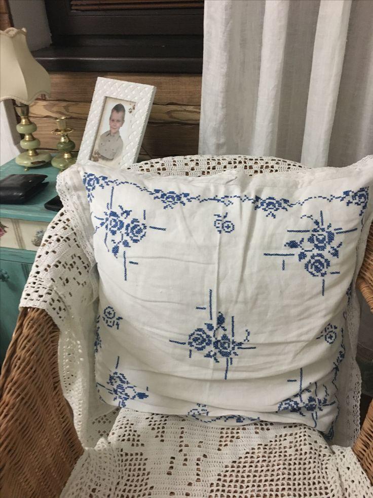 Stitch pillow hand made