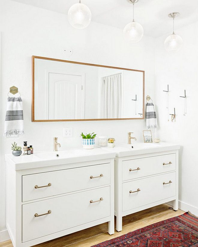 could use ikea vanity modern farmhouse bathroom reno