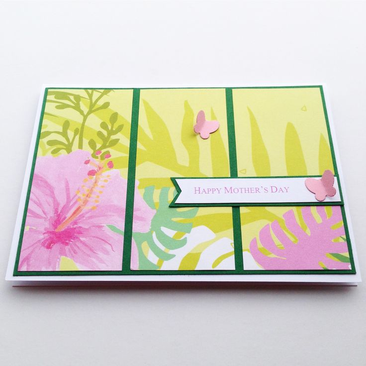 This Mother's Day Card handmade card would be perfect for a mum who loves gardening or travelling to tropical holiday destinations!!! Made by Pammypumpkin!