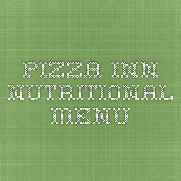 pizza inn nutritional menu