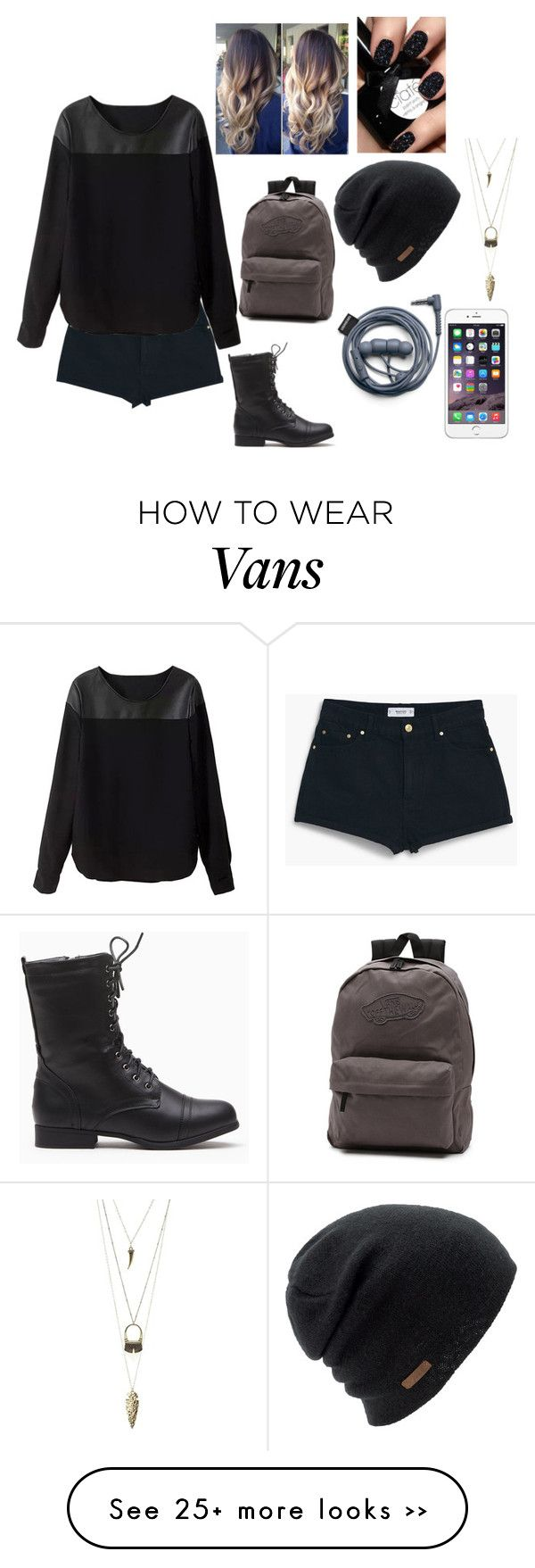 """Back To School"" by sahar-i-my-name on Polyvore featuring Vans, MANGO, Charlotte Russe and Coal"