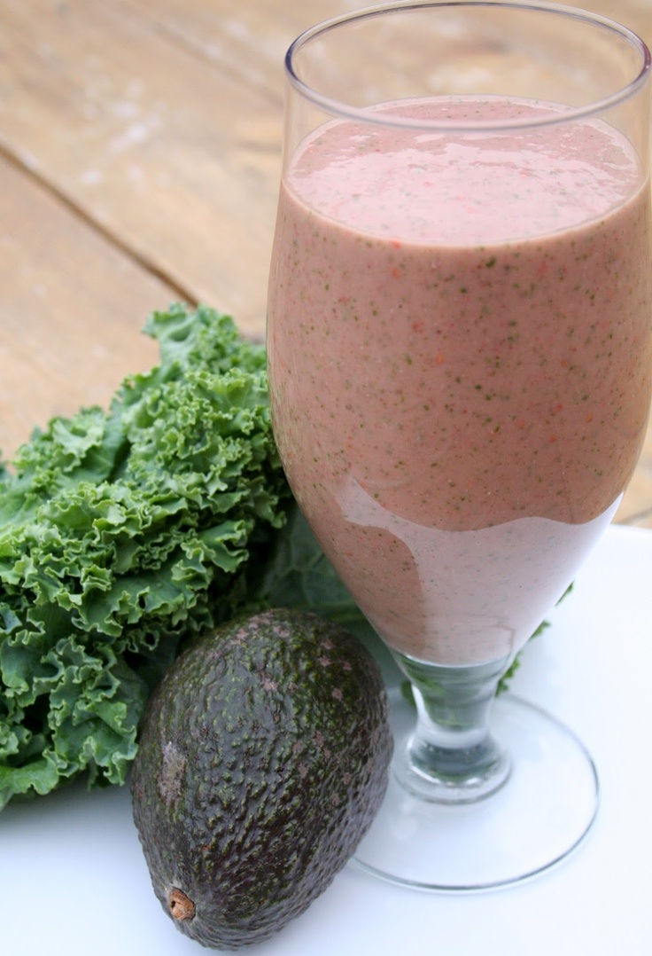 The Healthy Happy Wife: Omega Rich Raspberry, Kale Shake or Smoothie (Dairy, Gluten and Sugar Free)