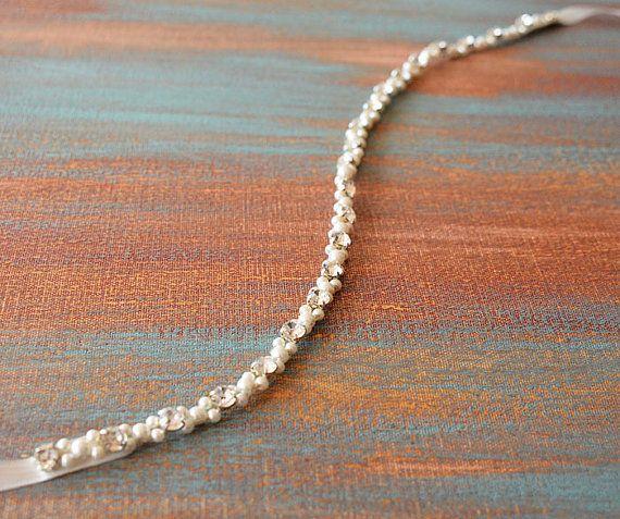 Bridal Sash Belt Bridal Pearl BeltWedding Sash Belt by ADbrda l