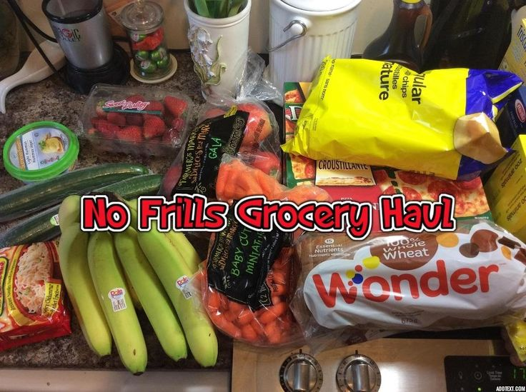 No Frills Grocery Haul