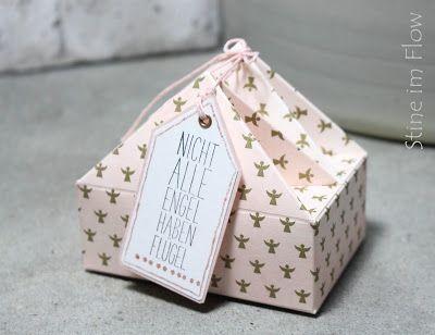 Häuschen Box 2 - Stine im Flow.  Blog über kreatives Gestalten mit Papier,DIY, Verpackungen, Bastelanleitungen.
