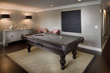 Billiards Room - transitional - family room - indianapolis - Hoskins Interior Design