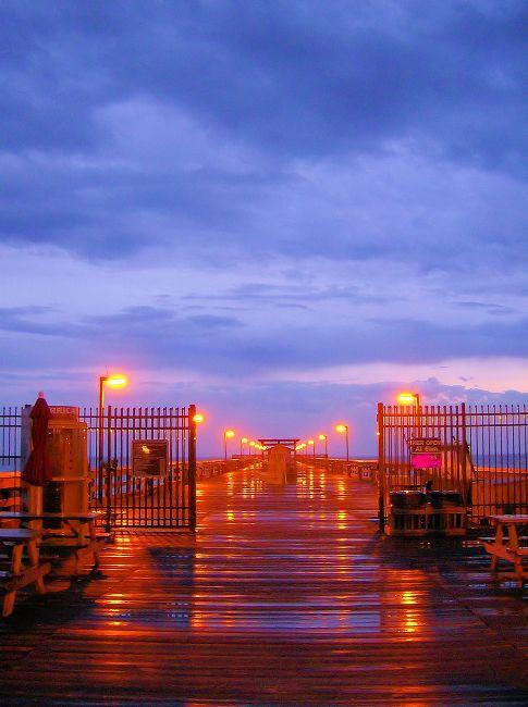 Springmaid Pier în Myrtle Beach După O Ploaie