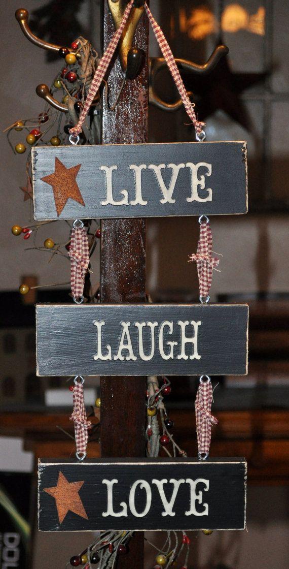 live-laugh-love sign ladder