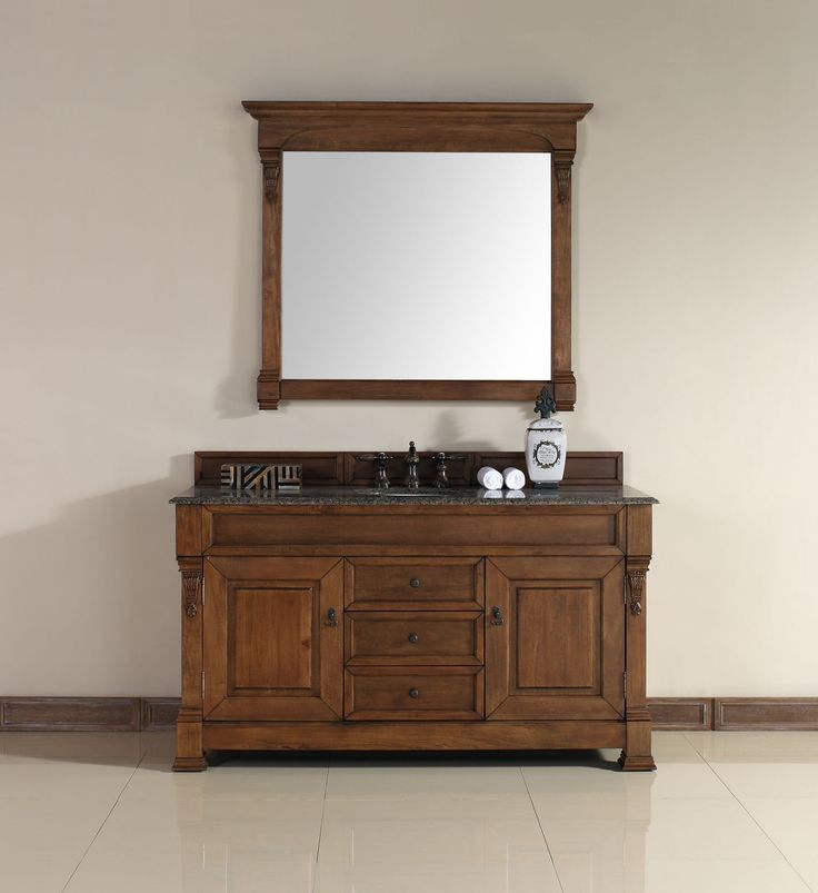 60 inch Single Bathroom Vanities http://www.listvanities.com/antique-bathroom-vanities.html  Optional Countertops are one of the most challenging pieces of furniture produced today. Elevated humidity levels, and heavy use, command use of very best materials and most advanced finishing techniques available today.