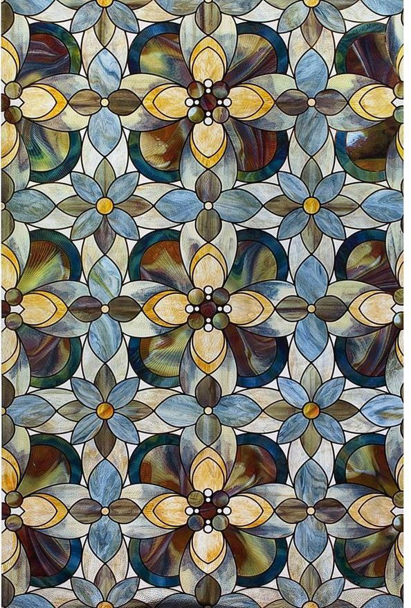 Quatrefoil Decorative Window Film, 24 in. x 36 in., Stained Glass Cling, Privacy #Artscape