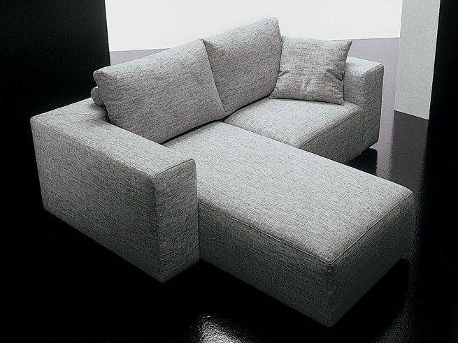 Divano in tessuto a 2 posti SQUARE | Divano con chaise longue by Diemme