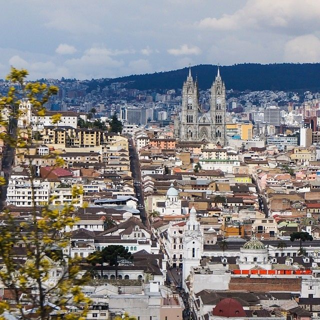 View over Quito  #view #city #quito #basilica #ecuador #travel #sightseeing #vacation