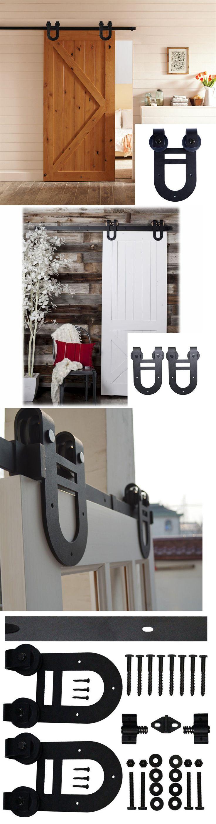 Pinterestteki 25den fazla en iyi barn door rollers fikri other door hardware 20593 6 16 ft rustic single sliding barn door track kit vtopaller Gallery
