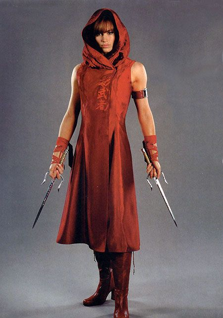 "Actress Jennifer Garner as Elektra Natchios in ""Elektra"" (2005) movie. Description from pinterest.com. I searched for this on bing.com/images"