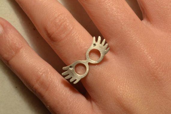 Anello argento 925 Luna Lovegood anello regolabile sotto 28 Geek gioielli moda compleanno regalo Idea regalo