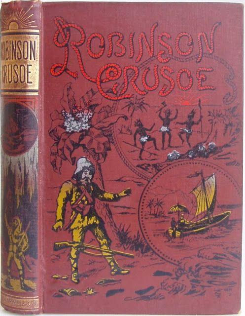 Robinson Crusoe by Daniel Defoe, London: Frederick Warnes & Co. 1880's | Beautiful Books
