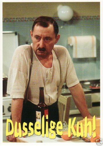 witzige-Postkarte-Scherzkarte-lustige-Sprueche-Dusselige-Kuh-Ekel-Alfred
