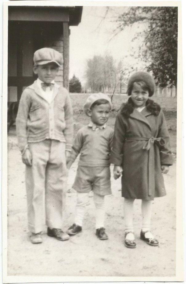 Хорошо одеты мальчики девочки братья и сестра? Старый/винтажный фото-снимок R3602 | eBay