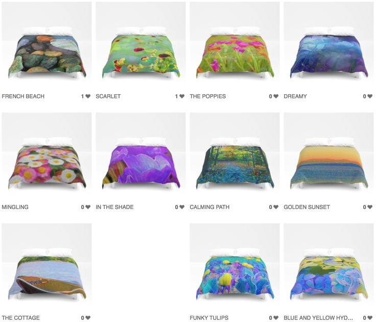 ART ON YOUR BED!? YES!!  ON SALE NOW! Gorgeous and unique art now available as duvet covers. Drape yourself in beautiful and unique art!  #art #duvet #covers #color #interior #decorating #decor #fashion #unique #flowers #rocks #trees #swirls #blue #green #yellow #orange #violet #purple #lilac #canoe #outdoors #cottage  https://society6.com/chri8tine/duvet-covers