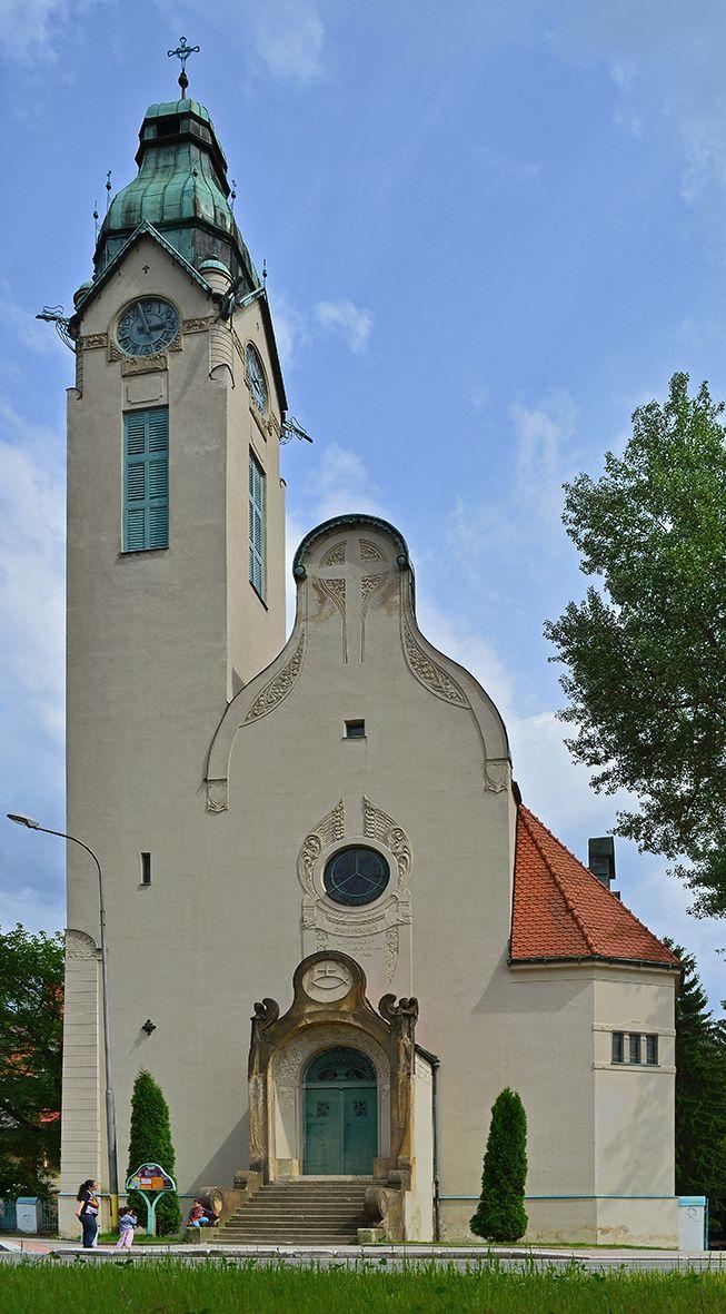 Art Nouveau Old Catholic Church in Jablonec n.N.