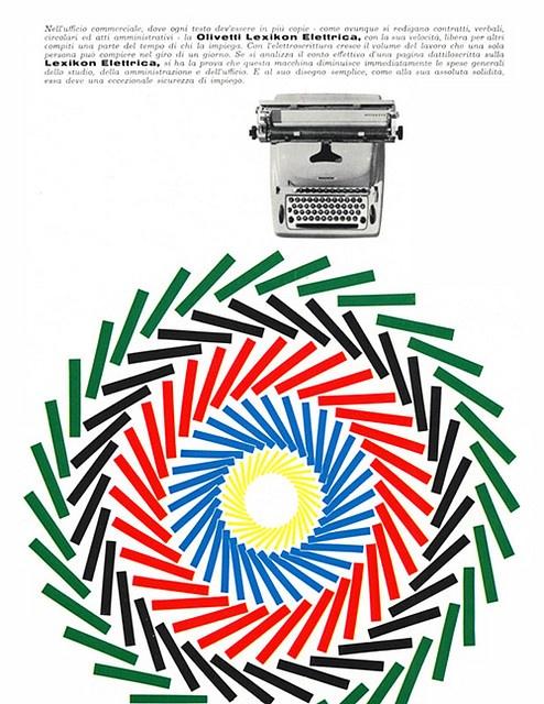 Olivetti Lexikon Elettrica Poster designed by Giovanni Pintori