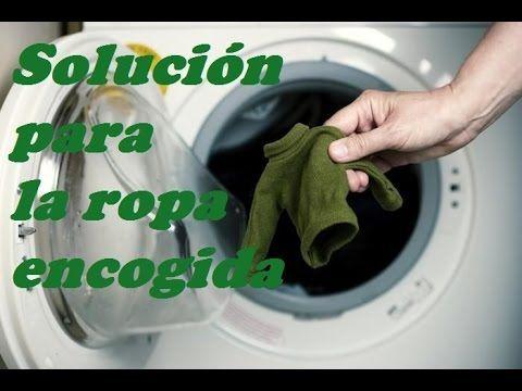 SOLUCION PARA LA ROPA ENCOGIDA