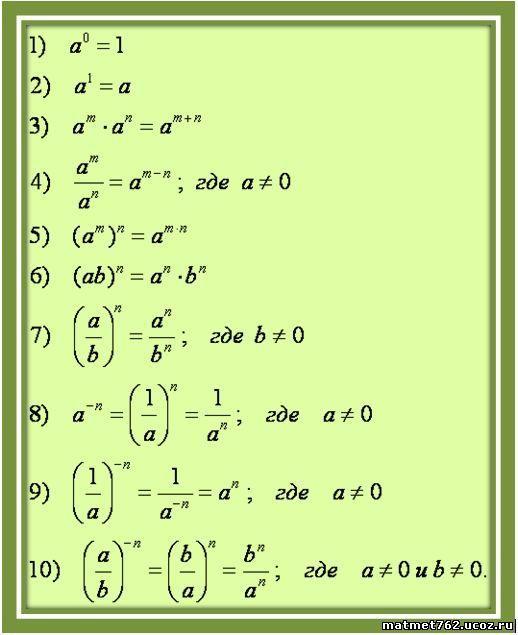 Формулы по математике 5 класса s u t все формулы