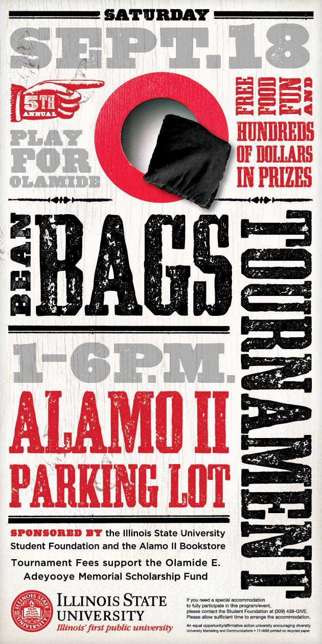 Bean Bags Tournament Poster Designed By Carol Watson