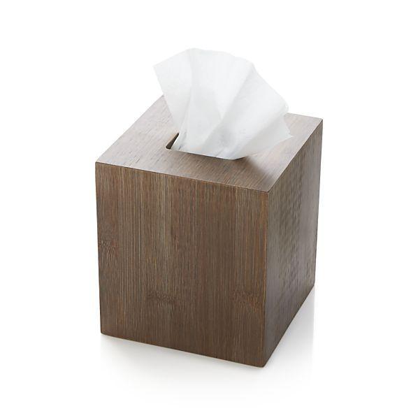 Dixon Bamboo Tissue Box Cover Crate And Barrel