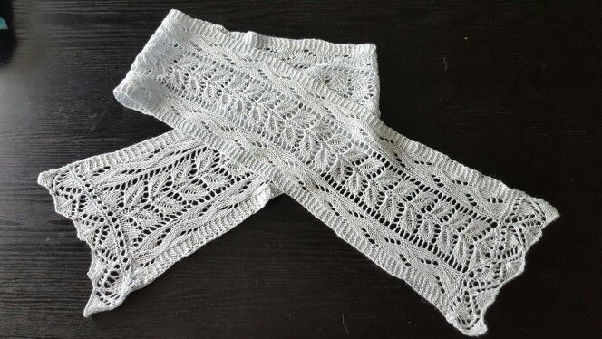Silk scarf for my neck in the summer.  Another project from Jane Austin Knit.