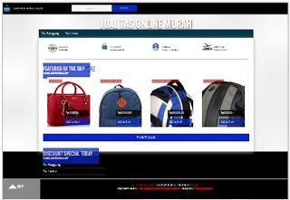 Tampilan Template Online Shop Blogger Checkout Email Responsive
