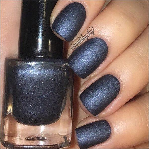 """P•O•P Polish Indie Nailpolish Nail Mirror """"Dark Denim."""" (26 BRL) ❤ liked on Polyvore featuring beauty products, nail care, nail polish, nails, makeup, shiny nail polish and glossy nail polish"""