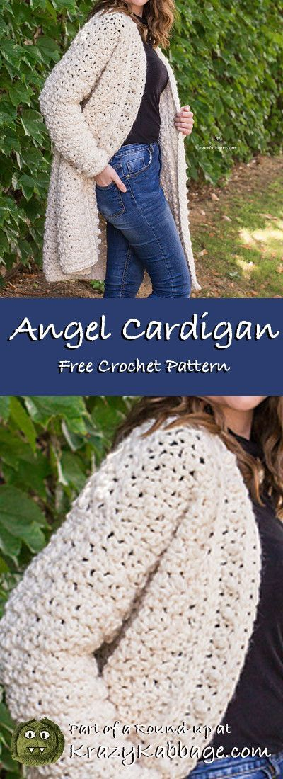 Cozy Cardigans Free Crochet Patterns – Krazy Kabbage #crochet #cardigan #soft #s…