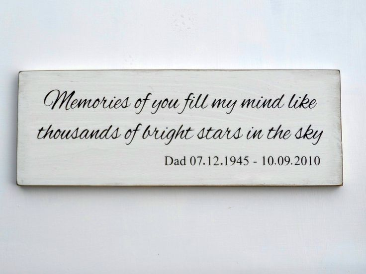 Memories Of You Personalized Memorial Sign By