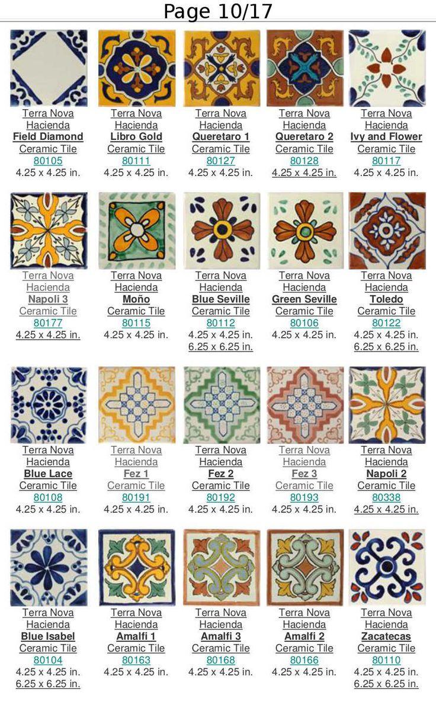 M s de 25 ideas incre bles sobre azulejos mexicanos en for Catalogo de azulejos