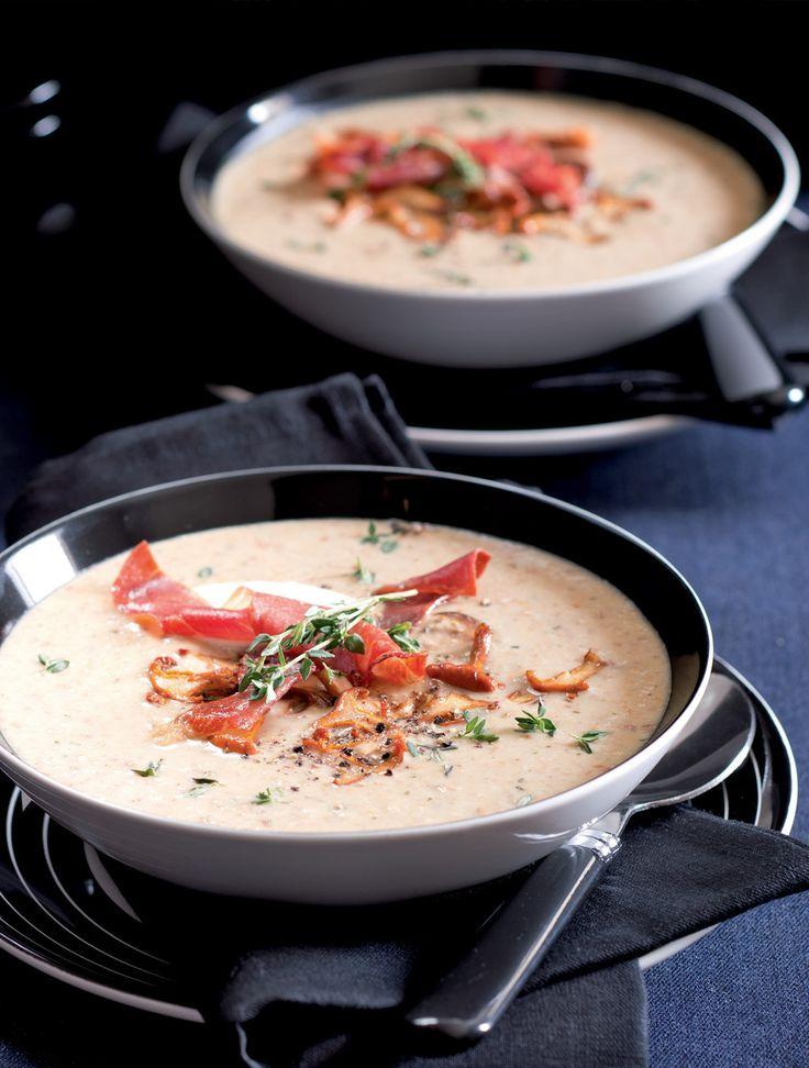 Krémová houbová polévka