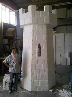 how do i build a fake castle front for my house at halloween - Google Search