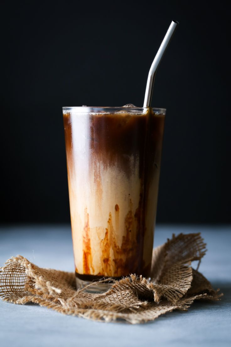 Salted Caramel Coffee Creamer + Iced Latte | Free of dairy, gluten, and refined sugar! Paleo and vegan friendly.