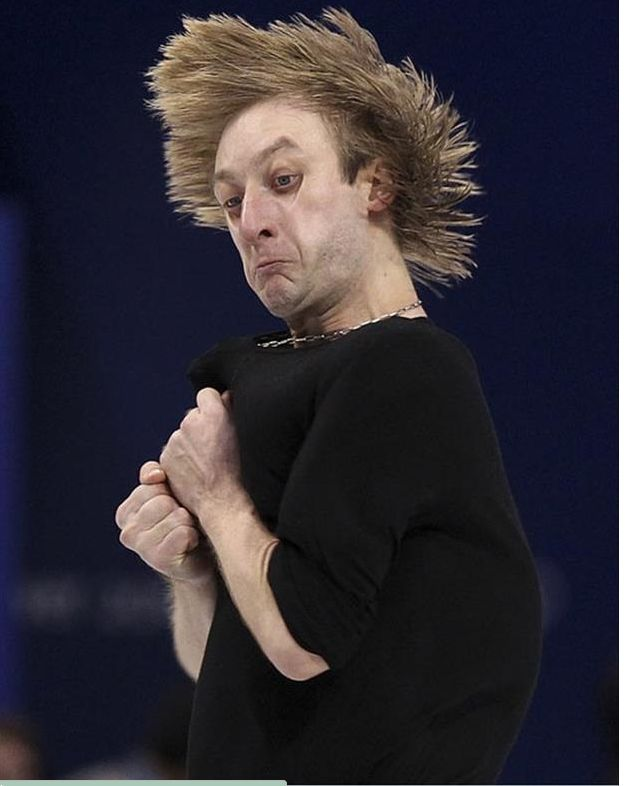 funny faces that olympic figure skaters make.