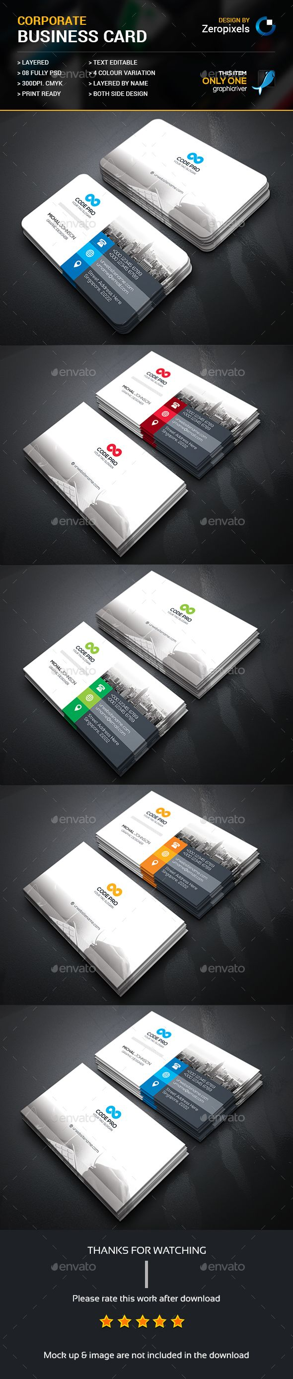 41 Best Business Cards Design Images On Pinterest Visit Cards