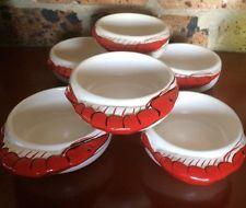 DIANA 1950's AUSTRALIA pottery Dishes Ramekins Prawn Ware Pots