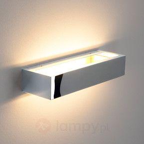 Chromowana lampa ścienna LED Cilian  28 cm 453 pln