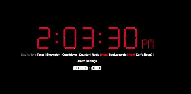 Online Alarm Clock | 33 Amazingly Useful Websites You Never Knew Existed