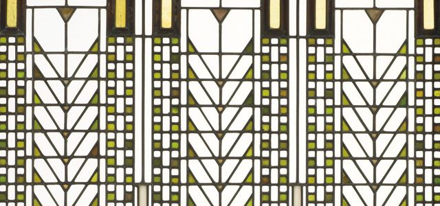 Frank Lloyd Wright. Tree of Life Window (detail) from the Darwin D. Martin House, 1904. One of the most politically progressive and aesthetically compelling artistic movements of modern times, the Arts and Crafts movement sprang from a rebellion against industrial life and mass-produced objects yet eventually united hand and machine in the service of beauty.