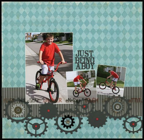 Just Being A Boy Layout by Carolyn Lontin