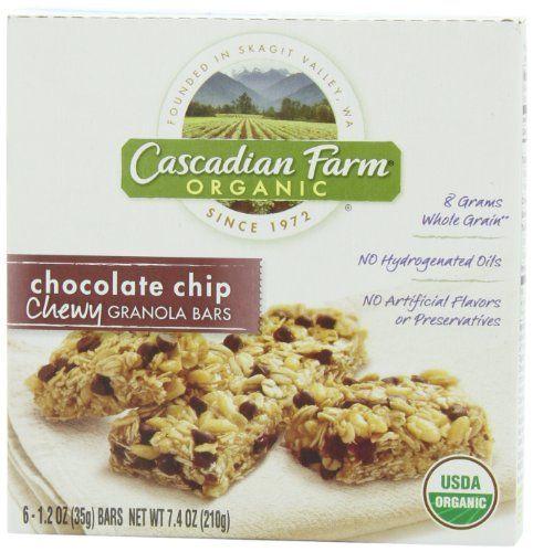 Cascadian Farm Organic Chocolate Chip Chewy Granola Bar Have Fiber