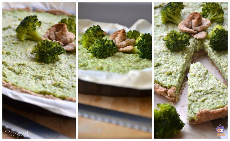 Torta ai broccoli con pasta matta