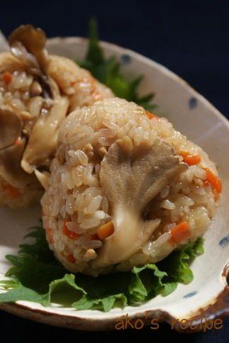 まいたけと鶏ひき肉の中華風おこわ ( レシピ ) - 調理師あこのおいしいレシピ - Yahoo!ブログ