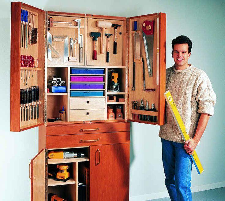 handwerkzeug und die maschinen praktisch und griffbereit unterbringen werkstattschrank mit. Black Bedroom Furniture Sets. Home Design Ideas